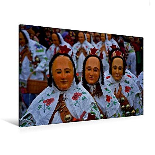 Premium Textil-Leinwand 120 cm x 80 cm quer, Gausnarr | Wandbild, Bild auf Keilrahmen, Fertigbild auf echter Leinwand, Leinwanddruck: der Narrenzunft Gosheim (CALVENDO Menschen) (Hexe Kostüme Bilder)