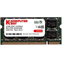 Komputerbay 1GB DDR SODIMM (200 pin) 333Mhz PC2700 DDR333 Memoria Portatile