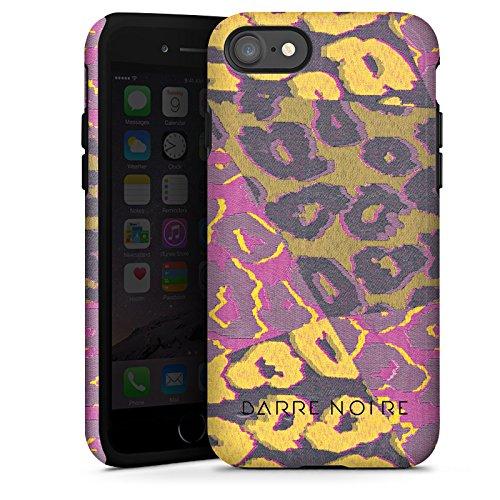 Apple iPhone X Silikon Hülle Case Schutzhülle Leoparden Muster Leopard Tough Case glänzend