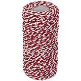 100m cinta de regalo, diseño de algodón cuerda cordel cuerda Cord String rojo