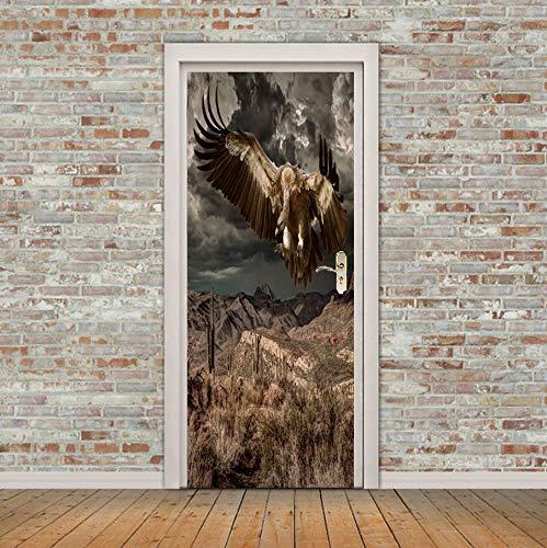 Türposter Eagle Flying Door Bild Wall Murals Wallpaper Decals Wohnkultur 77X200Cm -