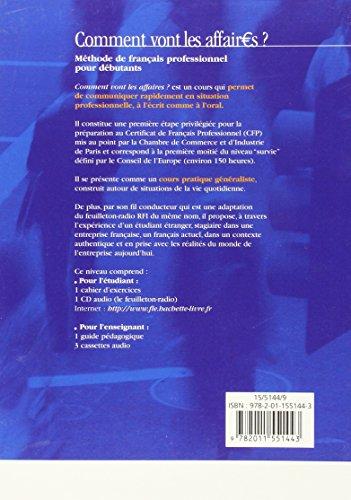 Comment Vont Les Affaires? Livre De L'Élève: Livre De L'Eleve 1 (Français langue étrangère)