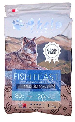 Akela Fish Feast Small Paws Grain Free working dog food 10kg VAT FREE 1