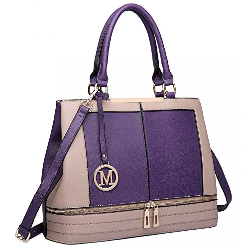 Miss Lulu, Borsa tote donna Purple