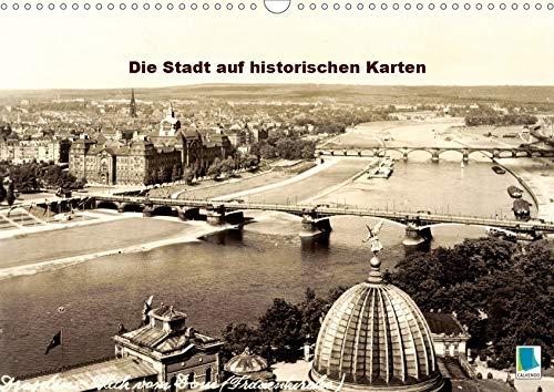 Souvenirs aus Dresden - Die Stadt auf historischen Karten (Wandkalender 2020 DIN A3 quer): Dresden: Tradition und Stadtgeschichte (Monatskalender, 14 Seiten ) (CALVENDO Orte)