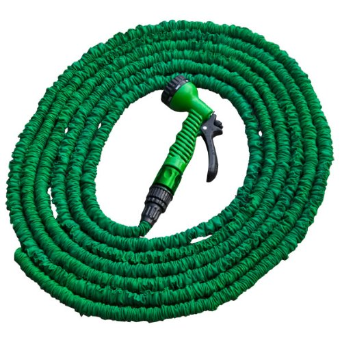 Bradas wth722gr ausbau Tuyau d'arrosage extensible Hose Pipe Tube flexible et spray de buse, 7,5/22 m vert