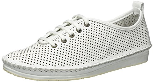 Andrea Conti Women's 0023446 Low-Top Sneakers White Size: 7 UK