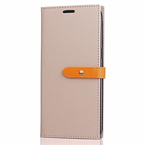 Business Style Mixed Farben Slim Design PU Ledertasche Brieftasche Stand Case [Shockproof] mit Niet Echtes Leder Gürtel & Kickstand & Card Slots für OnePlus 3 & 3T ( Color : Black ) Gray