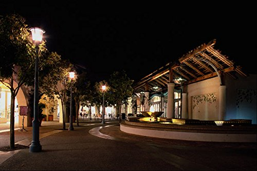 438045 Night View Of The Del Mar Plaza A4 Photo Poster Print 10x8
