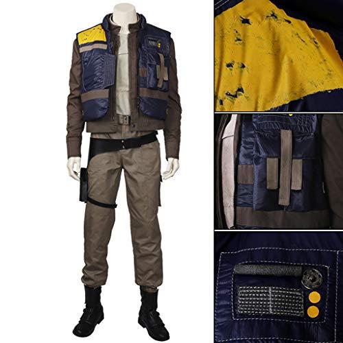 nihiug Star Wars Grand Theft Auto 1 Cassian Ando Lichtschwert Cosplay Kostüm Voll Angepasst Halloween Kostüm,Brown-2XL(183to187) (Gerüchte Spielen Kostüm)