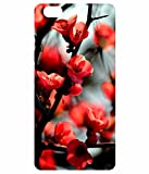HIGH QUALITY PRINTED BACK CASE COVER FOR VIVO V5 – RED FLOWER PRINT