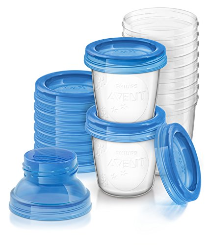 Philips AVENT Breast Milk Storage Cups, 6 Ounce (Pack of 10)  available at amazon for Rs.1766
