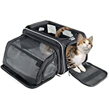 Fypo Bolsa de transporte para mascotas 45*29*23 Transportín Plegable para gatos y perros pequeños