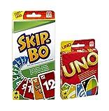 Mattel Uno Kartenspiel und SkipBo Kartenspiel im Set