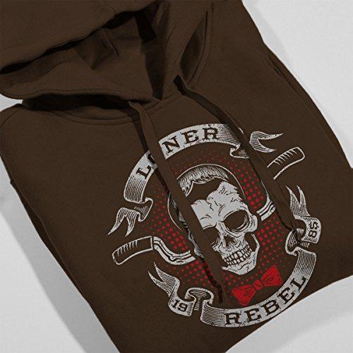 ... Pee Wee Herman Loner Rebel Women's Hooded Sweatshirt Chocolate ...