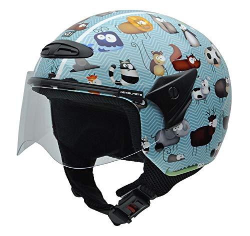 NZI 050269G711 Helix Jr Graphics Animals Motorcycle Helmet, Size 52-53 (L)