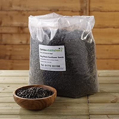 12.55Kg Black Sunflower Seed - Garden Wildlife Wild Bird Food from Garden Wildlife Direct
