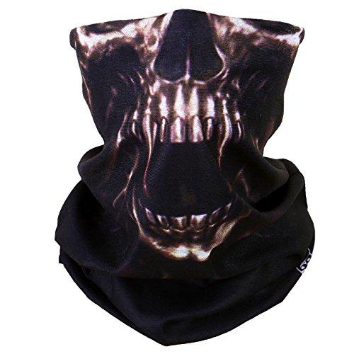 ACBungji Multifunktionstuch Gesichtsmaske Motorradmaske Sturmmaske Maske für Motorrad Ski Snowboard Snowboard Paintball Fahrrad Bergsteigen Trekking Skateboarden Angeln Skull Halloween Clown 61603