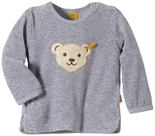 Steiff Unisex - Baby Sweatshirt 1/1 Arm, Gr. 86 (Herstellergröße: 86), Grau (Steiff softgrey melange gray 8200)