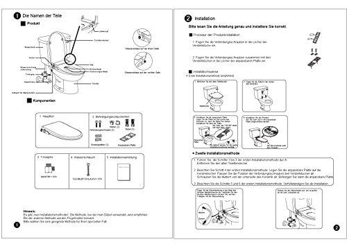 WC-Sitz mit integriertem Bidet CG104 - mit Reinigungsfunktion für Damen - für optimale Intimpflege