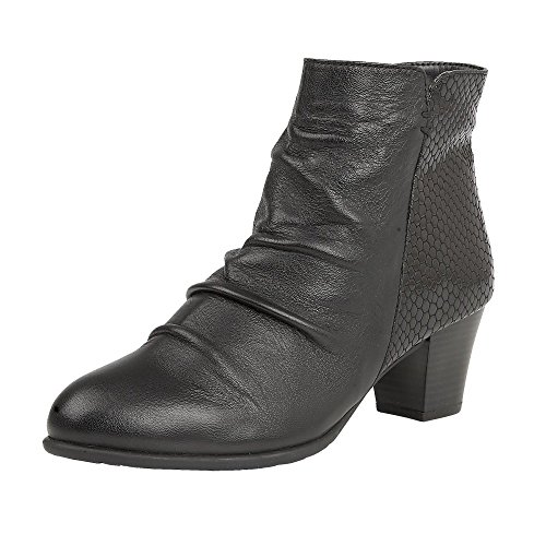 Lotus Punata Womens Ankle Boots 4 Black Print