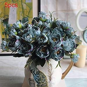 XdiseD9Xsmao Color Vivo Flor De Seda Artificial Peonía Flores Falsas Ramo Novia Banquete De Boda Decoración del…