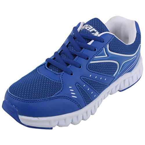 Sparx Womens Sm079l Series Royal Blue White Synthetic And Nylon Mesh Sports Shoes