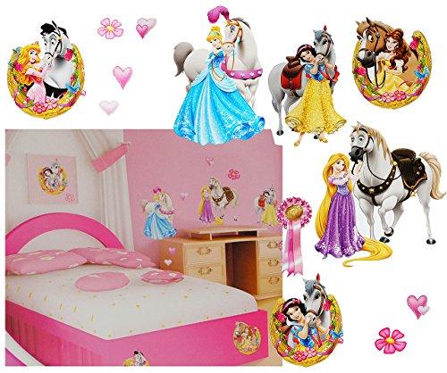 alles-meine.de GmbH 13 tlg. Set _ XL Fensterbilder -  Disney Princess - Prinzessin  - Sticker Fe..