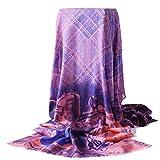 MO XIAO BEI Herbst Und Winter Schals, Wolle Gedruckt Warmen Schal (Farbe : Pink)