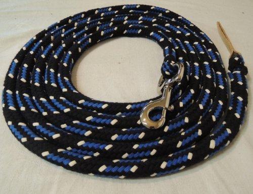 Bodenleine schwarz-blau-natur 4 Meter Baumwolle Boltsnap silber