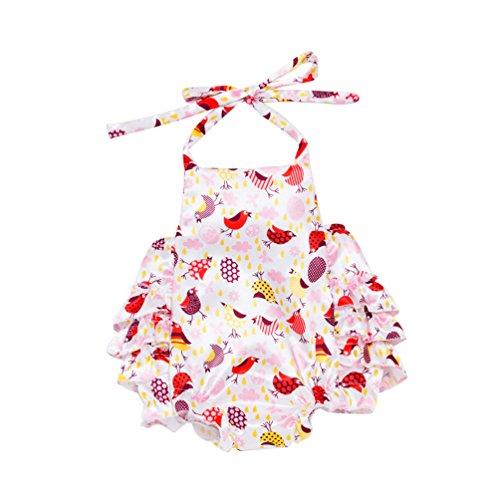 Yiiquan Babybekleidung Baby-Mädchen Kleidung Set Overall Strampler Kopfschmuck Schuhe 3tlg Outfits Stil 1 Größe 66