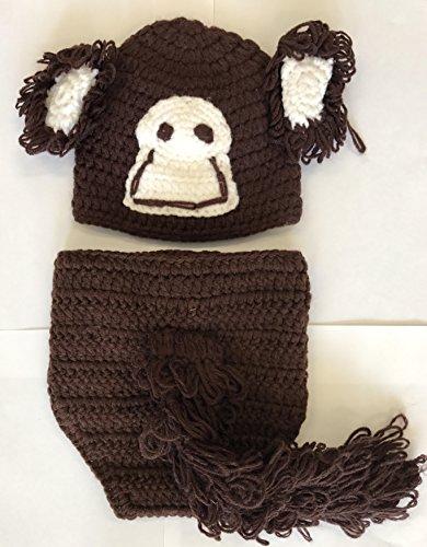 geborene, gehäkelt, ideal als Foto-Requisite, für Jungen und Mädchen geeignet (Kleiner Affe) ()