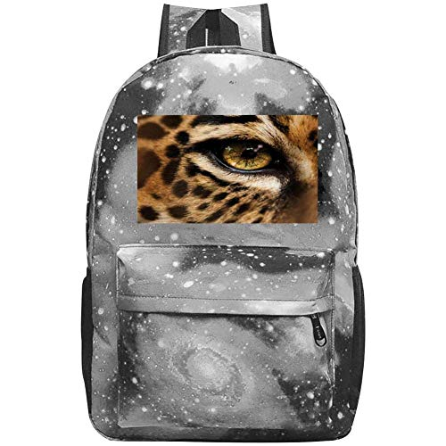 dsgsd Schultasche Yellow Eyed Leopard Casual Large-Capacity Star Backpack Unisex Travel Bag Blue -