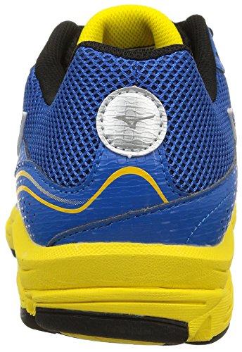 Mizuno Herren Wave Impetus 3 Laufschuhe mehrfarbig (Electricbluelemonade/Silver/Cyberyellow)