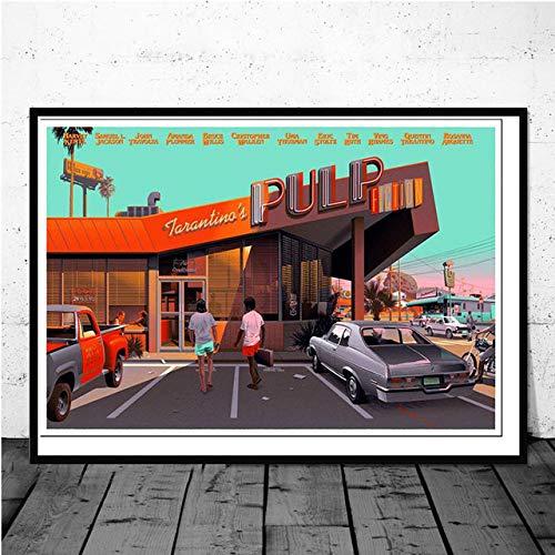 Eleanor Pulp Fiction Druckgrafik Kunst Malerei Retro Poster Classic Movie Wandbild Für Wohnzimmer Home Collection Dekoration 40x60 cm Kein Rahmen -