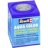 Revell 36378 Aqua Color - Pintura acrílica mate sedoso (18 ml), color gris oscuro