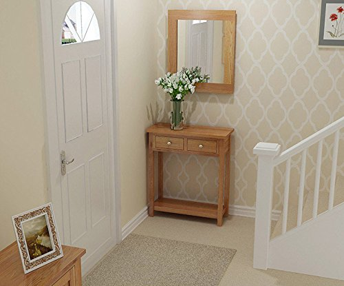 Waverly Oak 2 Drawer Large Console Table In Light ...