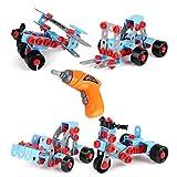 ONEGenug Bausteine Set Auszubildender Bildungsbau Engineering mit Bohrmaschine Spielzeug-Werkbank Spielzeug Werkzeug Set