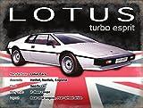 Original metals signs-lotus esprit turbo - 15 x 20 cm