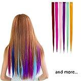 """SwirlColor 12 pezzi 55cm (21 """") di Multi-colori del partito Evidenziare clip su in Hair Fashion Beauty Salon fornire le parrucche diritte per le donne"""