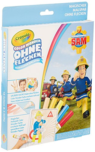 Crayola 12799.4100 – Livre à Colorier Color Wonder – Pompier Sam Multicolore