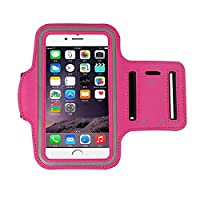 iphone 6s Armband (4.7Inch), Koly Running Sports Sweatproof Armband Gym Iphone 6/6s Arm Band Cover Case (Hot pink)