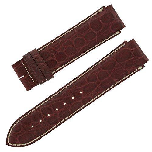 Faconnable 52 mm, colore: borgogna coccodrillo in vera pelle per orologio da uomo