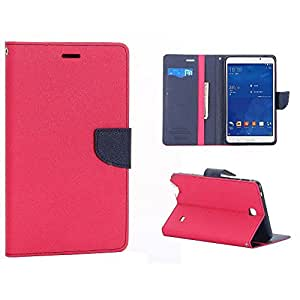 """SCHOFIC Premium Fancy Wallet Diary Faux Leather Mobile Flip Case Cover [Pouch] with Card Slots [POCKETS] , Stand View and Magnetic Strap [LOCKING] for Samsung GALAXY TAB 4 10.1"""" T530 T531 T535 -Pink"""