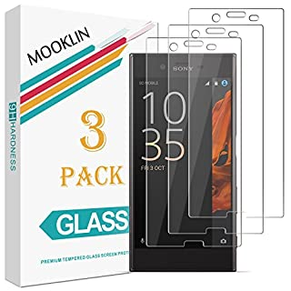 MOOKLIN [3 Pack] Sony Xperia XZ Screen Protector, [Anti-Scratch] [Ultra-Clear] Tempered Glass Film for Sony Xperia XZ