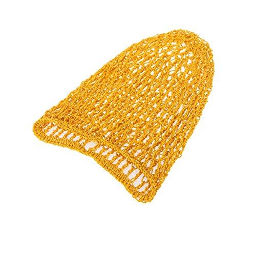 Frcolor Hair Net Rayon Haar Netz für Schlafen Frisurschutz für Frauen/ Lady (Gelb)