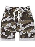 BEZLIT Jungen Kurze Baggy Capri Hose Stoff Shorts in Camouflage Made in Italy 22718 Grau Größe 128