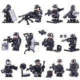 NURICH 12St. Mini Figuren Set SWAT Team mit Waffen Polizei Soldaten Minifiguren Satz Bausteine für Kinder
