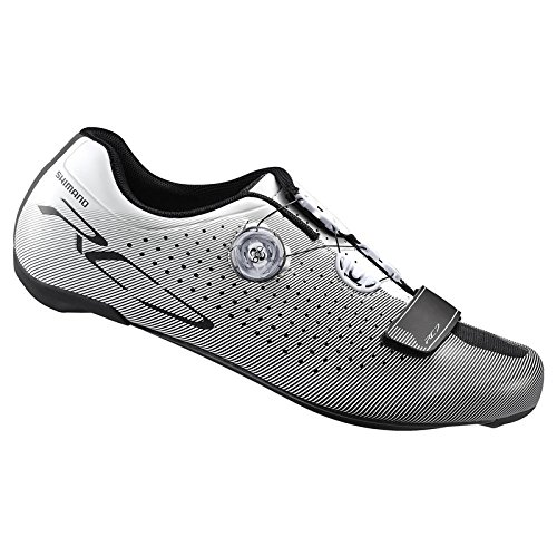 Shimano SHRC7OC430SW00, Zapatillas de Ciclismo de Carretera para Hombre, Blanco (White), 43 EU