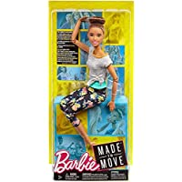 Barbie Made To Move Brunette Grey Top Doll